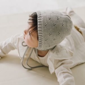 Jamie Kay knit bonnet light gray